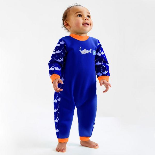 Costum întreg neopren bebeluşi - Warm In One™ Rechinii Simpatici 2