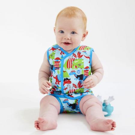 Costum neopren cu velcro bebeluşi - Baby Wrap™ Pirații Dino3
