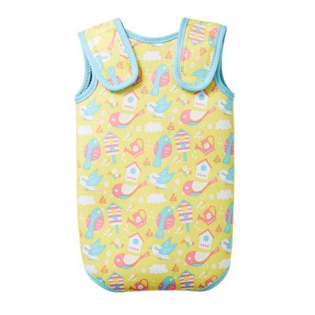 Costum neopren cu velcro bebeluşi - Baby Wrap™ Păsări de Grădină1