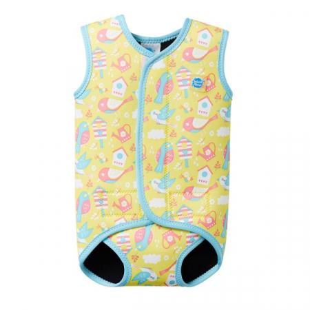 Costum neopren cu velcro bebeluşi - Baby Wrap™ Păsări de Grădină0