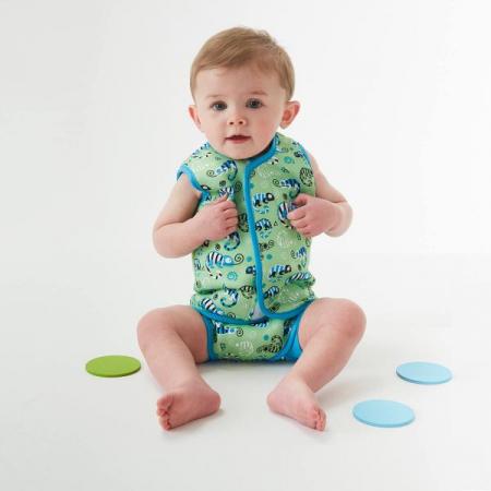Costum neopren cu velcro bebeluşi - Baby Wrap™ Gegoşii Verzi2