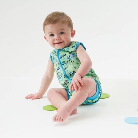 Costum neopren cu velcro bebeluşi - Baby Wrap™ Gegoşii Verzi3