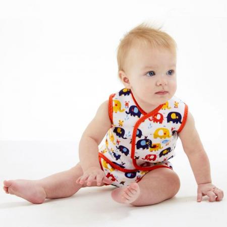 Costum neopren cu velcro bebeluşi - Baby Wrap™ Micii Elefanți3