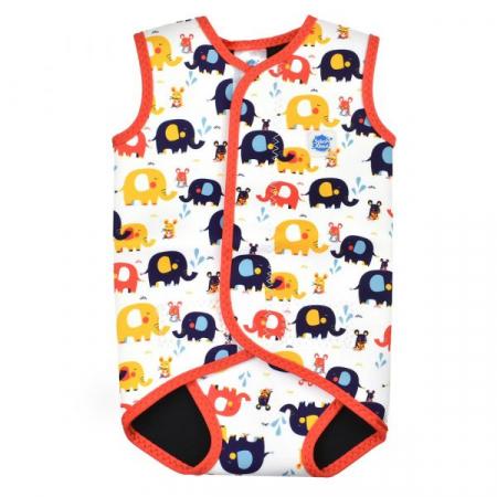 Costum neopren cu velcro bebeluşi - Baby Wrap™ Micii Elefanți0