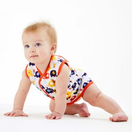 Costum neopren cu velcro bebeluşi - Baby Wrap™ Micii Elefanți2