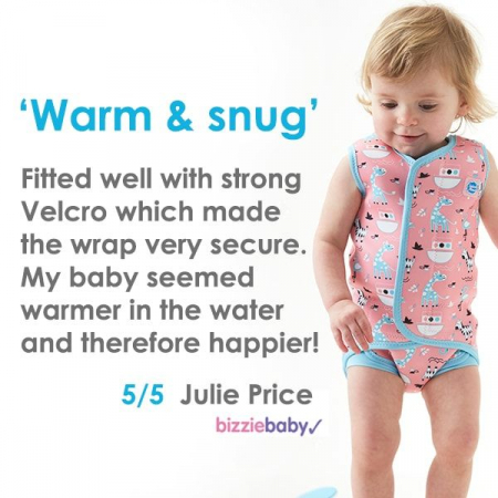 Costum neopren cu velcro bebeluşi - Baby Wrap™ Roz Geraniu4