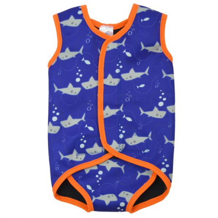 Costum neopren cu velcro bebeluşi - Baby Wrap™ Rechinii Simpatici0