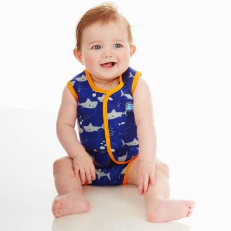 Costum neopren cu velcro bebeluşi - Baby Wrap™ Rechinii Simpatici1