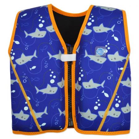 Vestă înot 8 plutitoare copii - Go Splash Jacket Rechinii Simpatici0