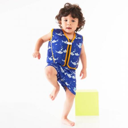 Vestă înot 8 plutitoare copii - Go Splash Jacket Rechinii Simpatici2