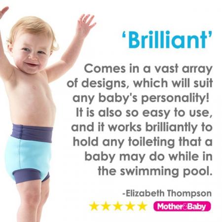 Slip înot/scutec de apă bebeluşi - Happy Nappy™ Albastru Cobalt4