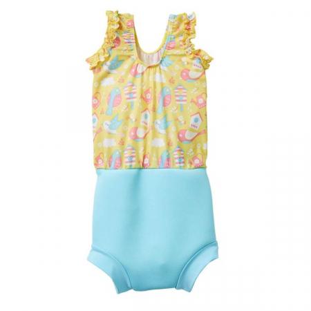 Costum înot/scutec de apă bebeluşi - Happy Nappy™ Păsări de Grădină1