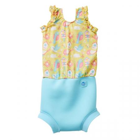Costum înot/scutec de apă bebeluşi - Happy Nappy™ Păsări de Grădină0