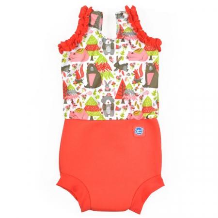 Costum înot/scutec de apă bebeluşi - Happy Nappy™ Din Pădure0