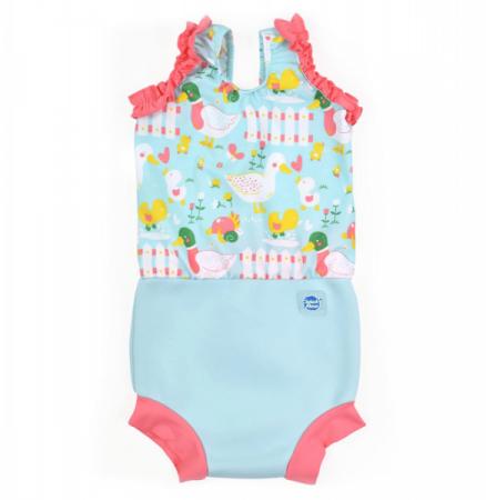 Costum înot/scutec de apă bebeluşi - Happy Nappy™ 5 Rațuşte [0]