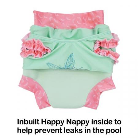 Costum înot/scutec de apă bebeluşi - Happy Nappy™ Buline Marine2