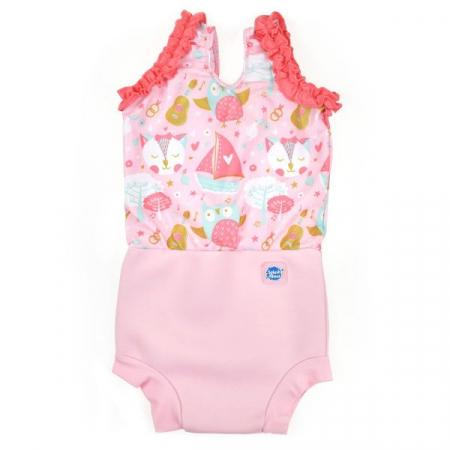 Costum înot/scutec de apă bebeluşi - Happy Nappy™ Bufnițe şi Pisicuțe0