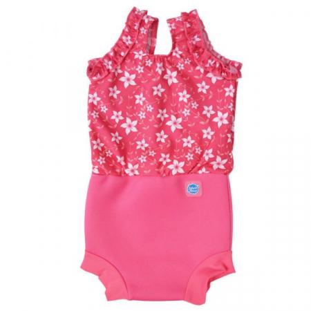Costum înot/scutec de apă bebeluşi - Happy Nappy™ Flori Rozalii0