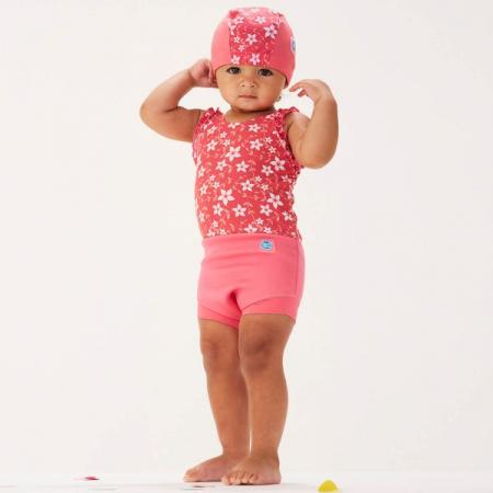 Costum înot/scutec de apă bebeluşi - Happy Nappy™ Flori Rozalii2