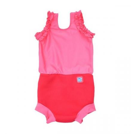 Costum înot/scutec de apă bebeluşi - Happy Nappy™ Roz Geraniu0