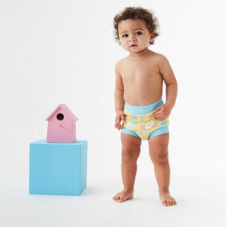 Slip înot/scutec de apă bebeluşi - Happy Nappy™ Păsări de Grădină3