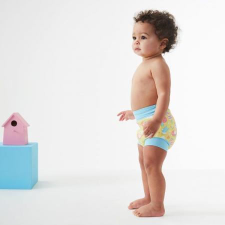 Slip înot/scutec de apă bebeluşi - Happy Nappy™ Păsări de Grădină2
