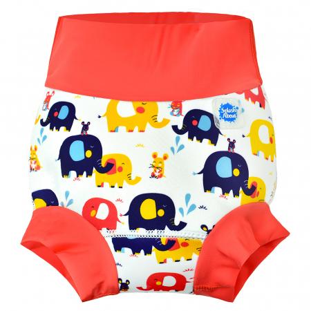Slip înot/scutec de apă bebeluşi - Happy Nappy™ Micii Elefanți0