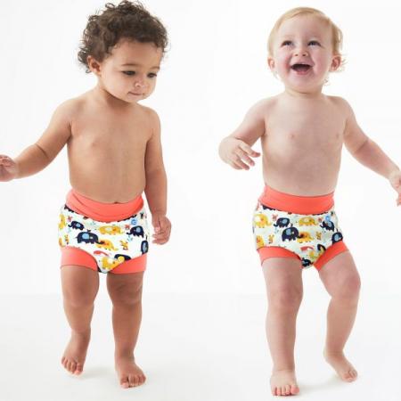 Slip înot/scutec de apă bebeluşi - Happy Nappy™ Micii Elefanți2