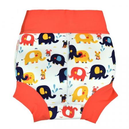 Slip înot/scutec de apă bebeluşi - Happy Nappy™ Micii Elefanți1
