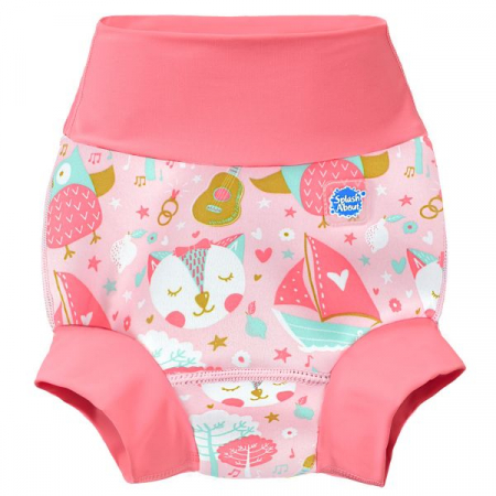 Slip înot/scutec de apă bebeluşi - Happy Nappy™ Bufnițe şi Pisicuțe0