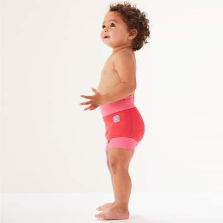 Slip înot/scutec de apă bebeluşi - Happy Nappy™ Roz Geraniu2