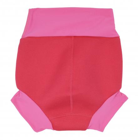 Slip înot/scutec de apă bebeluşi - Happy Nappy™ Roz Geraniu1