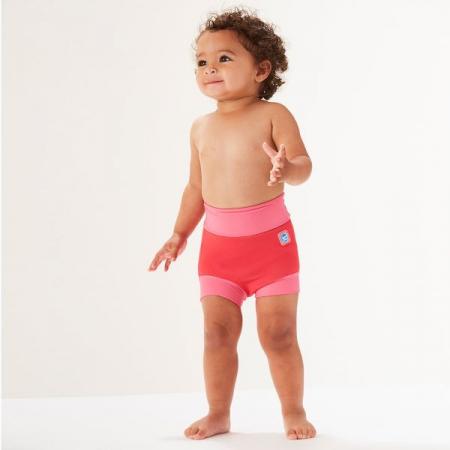 Slip înot/scutec de apă bebeluşi - Happy Nappy™ Roz Geraniu3