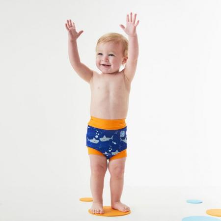 Slip înot/scutec de apă bebeluşi - Happy Nappy™ Rechinii Simpatici2