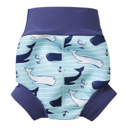 Slip înot/scutec de apă bebeluşi - Happy Nappy™ Balene Uriaşe1