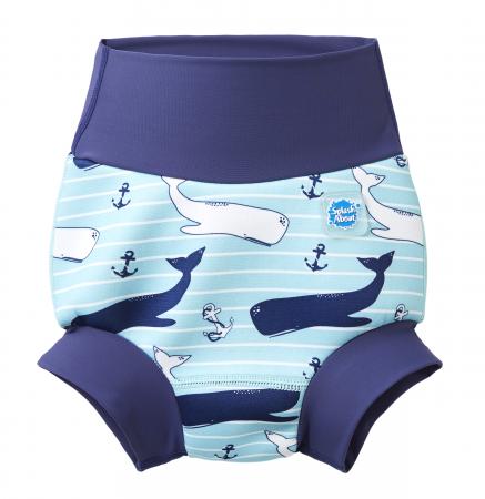 Slip înot/scutec de apă bebeluşi - Happy Nappy™ Balene Uriaşe0