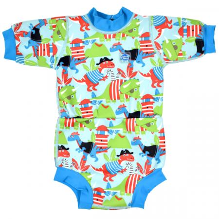 Costum neopren/scutec bebeluşi - Happy Nappy™ Pirații Dino0