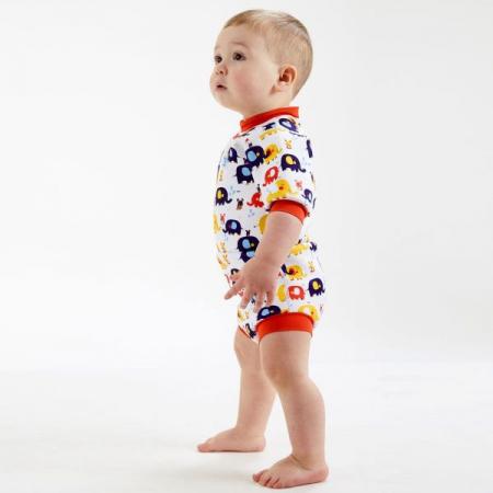 Costum neopren/scutec bebeluşi - Happy Nappy™ Micii Elefanți3