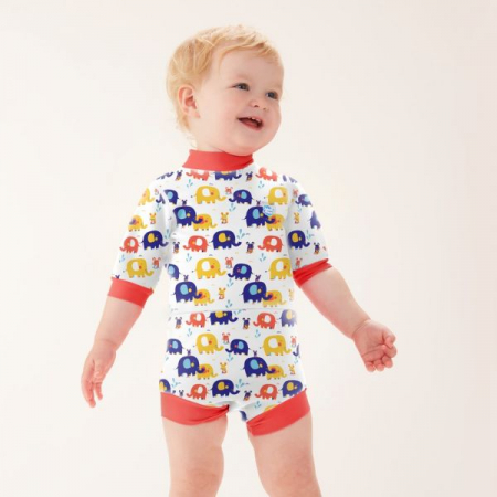 Costum neopren/scutec bebeluşi - Happy Nappy™ Micii Elefanți2