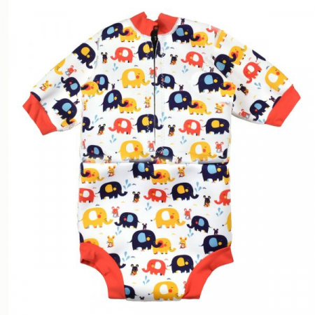 Costum neopren/scutec bebeluşi - Happy Nappy™ Micii Elefanți1