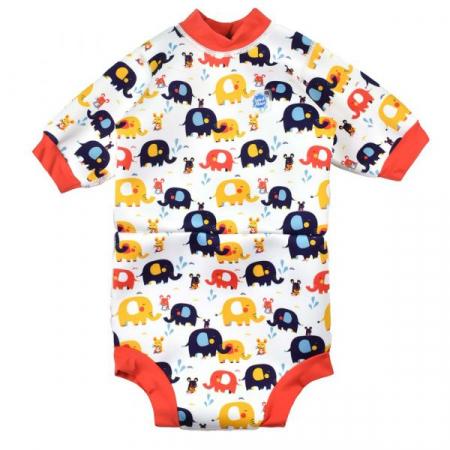 Costum neopren/scutec bebeluşi - Happy Nappy™ Micii Elefanți0