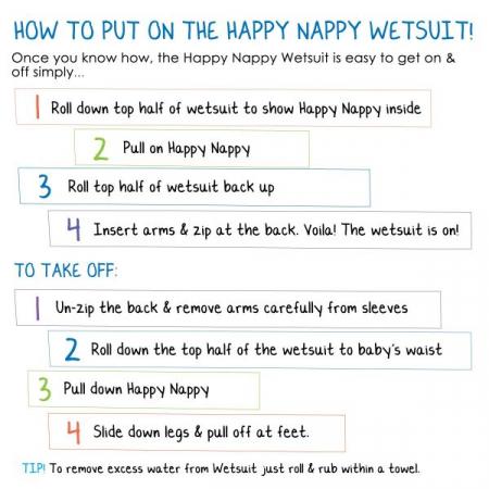 Costum neopren/scutec bebeluşi - Happy Nappy™ Roz Geraniu5