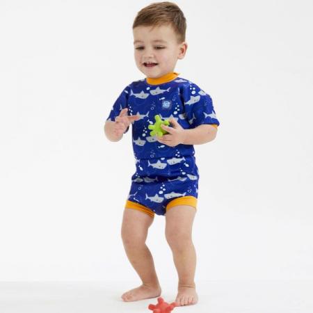Costum neopren/scutec bebeluşi - Happy Nappy™ Rechinii Simpatici1