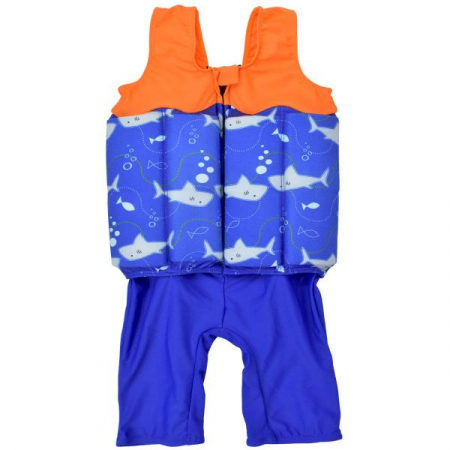 Costum înot plutitor baieti - Short John Floatsuit Rechinii Simpatici1