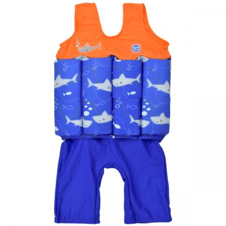 Costum înot plutitor baieti - Short John Floatsuit Rechinii Simpatici0