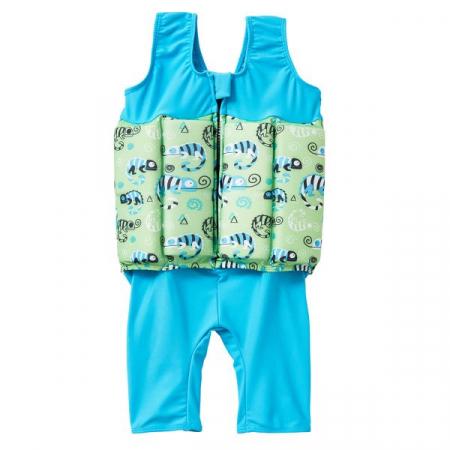 Costum înot plutitor baieti - Short John Floatsuit Gegoşii Verzi1