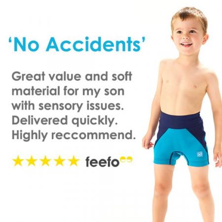 Pantalon scurt înot/incontinență copii - Splash Jammers Marin/Jad3