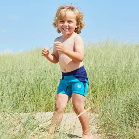 Pantalon scurt înot/incontinență copii - Splash Jammers Marin/Jad2