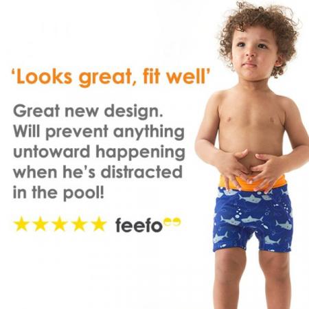 Pantalon scurt înot copii - Splash Jammers Rechinii Simpatici5