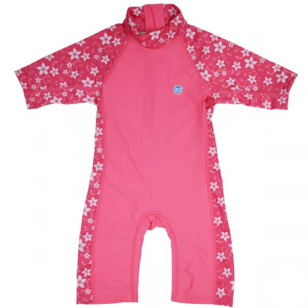Costum protecție UV copii - Toddler UV Sunsuit Flori Rozalii0